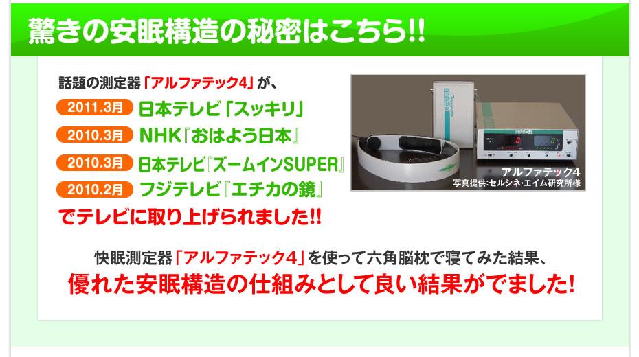 日本テレビ「スッキリ」NHK「おはよう日本」日本テレビ「ズームインSUPER」フジテレビ「エチカの鏡」でテレビに取り上げられました!!